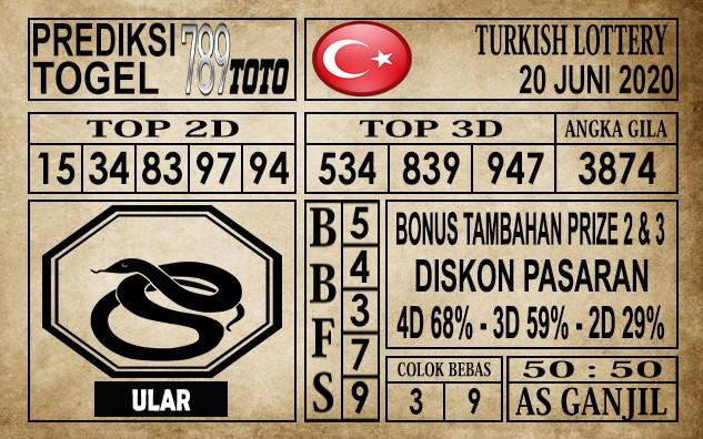 Prediksi Turkish Lottery Hari ini 20 Juni 2020
