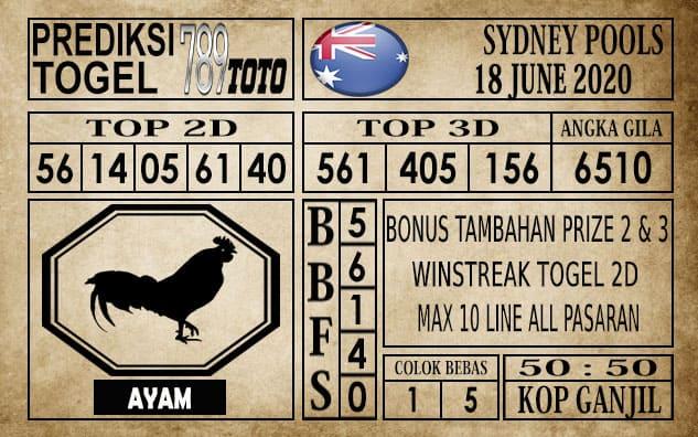 Prediksi Sydney Pools Hari Ini 18 Juni 2020