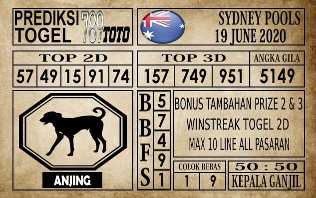 Prediksi Sydney Pools Hari Ini 19 Juni 2020