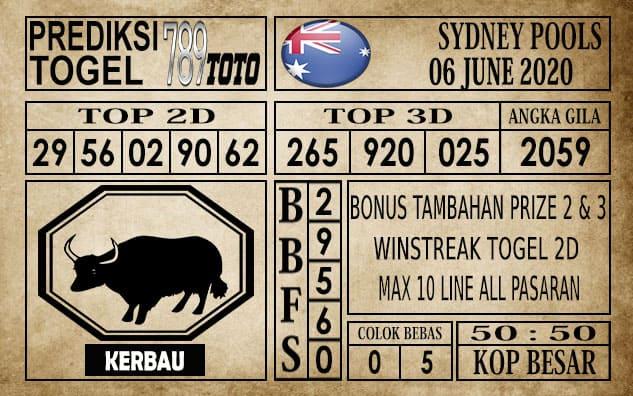 Prediksi Sydney Pools Hari Ini 06 Juni 2020