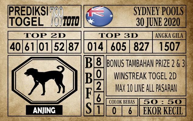 Prediksi Sydney Pools Hari Ini 30 Juni 2020