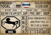 Prediksi Thailand Lottery Hari Ini 16 Juni 2020