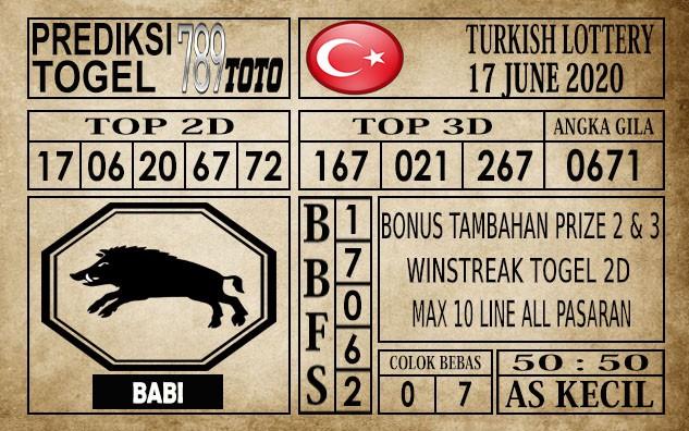 Prediksi Turkish Lottery Hari Ini 17 Juni 2020