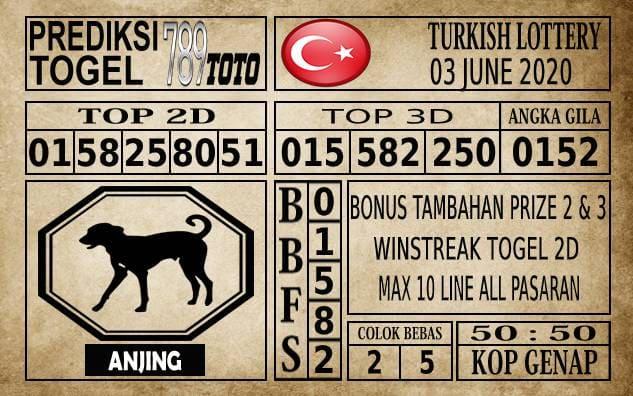 Prediksi Turkish Lottery Hari Ini 03 Juni 2020