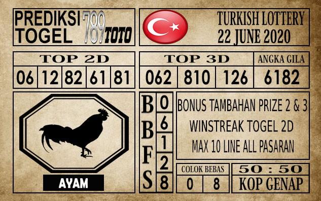 Prediksi Turkish Lottery Hari Ini 22 Juni 2020