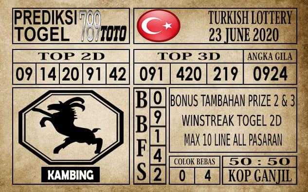 Prediksi Turkish Lottery Hari Ini 23 Juni 2020