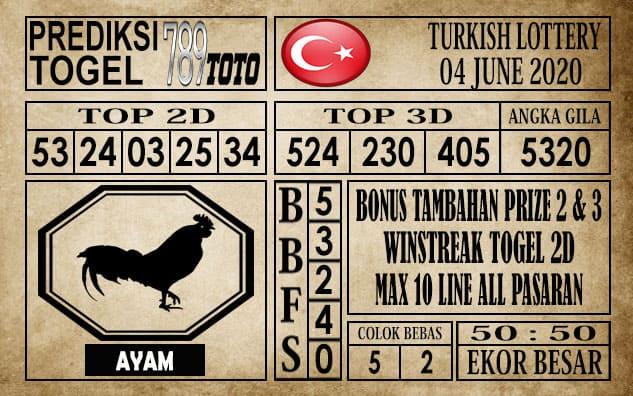 Prediksi Turkish Lottery Hari Ini 04 Juni 2020