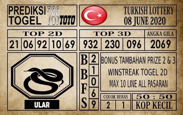 Prediksi Turkish Lottery Hari Ini 08 Juni 2020