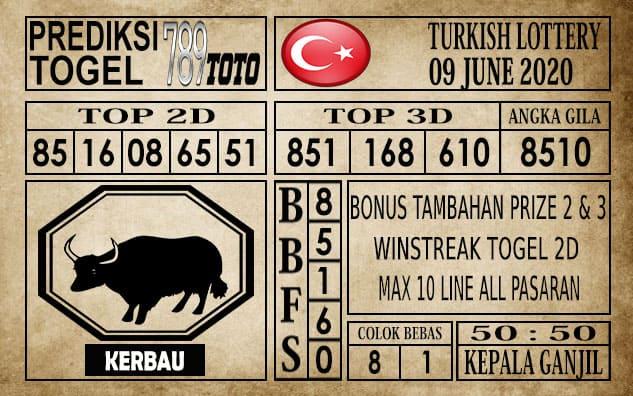 Prediksi Turkish Lottery Hari Ini 09 Juni 2020