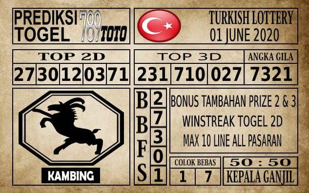 Prediksi Turkish Lottery Hari Ini 01 Juni 2020
