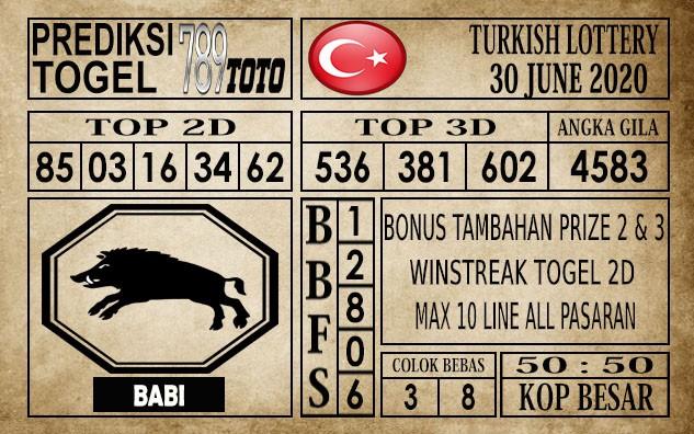 Prediksi Turkish Lottery Hari Ini 30 Juni 2020