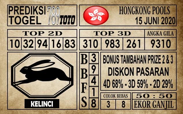 Prediksi Hongkong Pools Hari Ini 15 Juni 2020