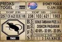 Prediksi Sydney Pools Hari ini 13 Juni 2020
