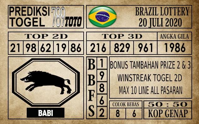 Prediksi Brazil Lottery Hari Ini 20 Juli 2020