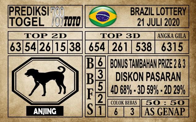 Prediksi Brazil Lottery Hari Ini 21 Juli 2020