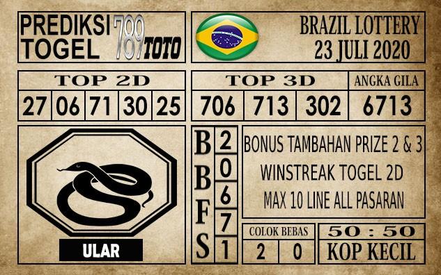 Prediksi Brazil Lottery Hari Ini 23 Juli 2020