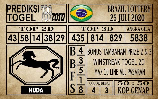 Prediksi Brazil Lottery Hari Ini 25 Juli 2020