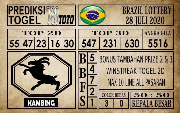 Prediksi Brazil Lottery Hari Ini 28 Juli 2020