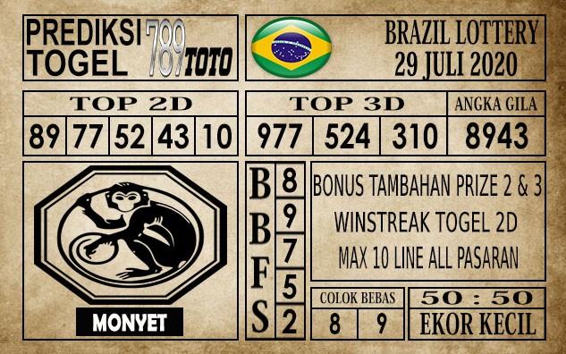 Prediksi Brazil Lottery Hari Ini 29 Juli 2020