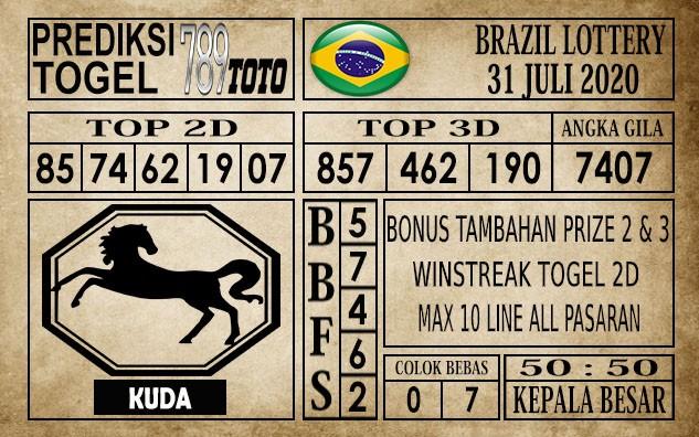 Prediksi Brazil Lottery Hari Ini 31 Juli 2020