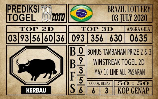 Prediksi Brazil Lottery Hari Ini 03 Juli 2020