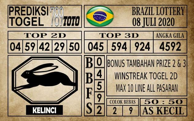 Prediksi Brazil Lottery Hari Ini 08 Juli 2020
