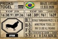 Prediksi Brazil Lottery Hari Ini 13 Juli 2020