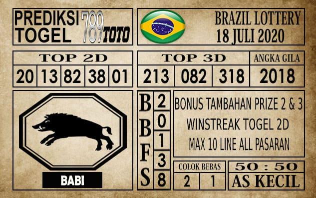 Prediksi Brazil Lottery Hari Ini 18 Juli 2020