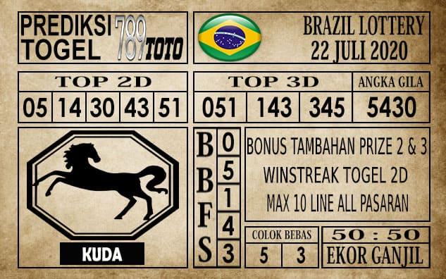 Prediksi Brazil Lottery Hari Ini 22 Juli 2020