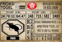 Prediksi Hongkong Siang Hari Ini 10 Juli 2020