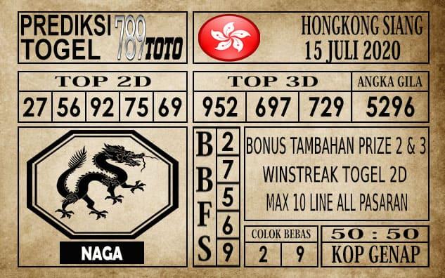 Prediksi Hongkong Siang Hari Ini 15 Juli 2020