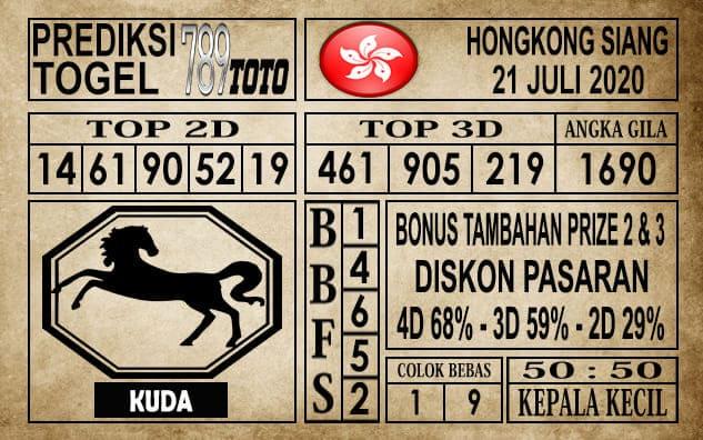 Prediksi Hongkong Siang Hari Ini 21 Juli 2020