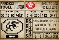 Prediksi Hongkong Siang Hari Ini 03 Juli 2020