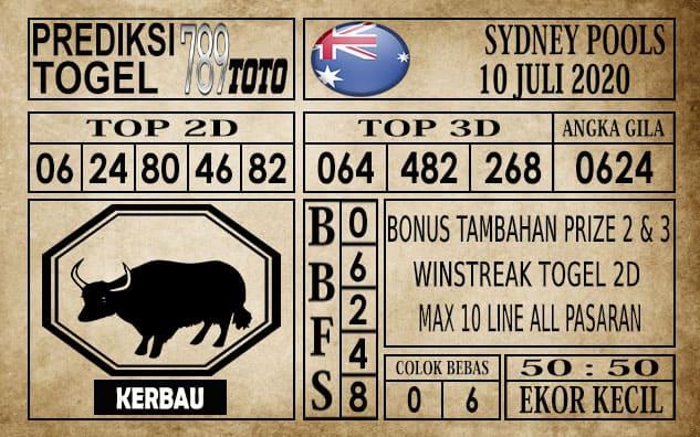 Prediksi Sydney Pools Hari Ini 10 Juli 2020 t