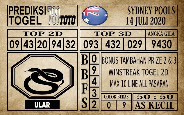 Prediksi Sydney Pools Hari Ini 14 Juli 2020