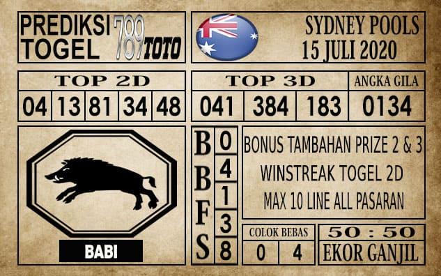 Prediksi Sydney Pools Hari Ini 15 Juli 2020
