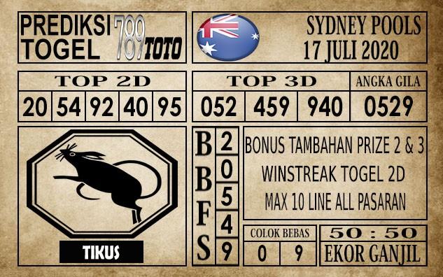 Prediksi Sydney Pools Hari Ini 17 Juli 2020