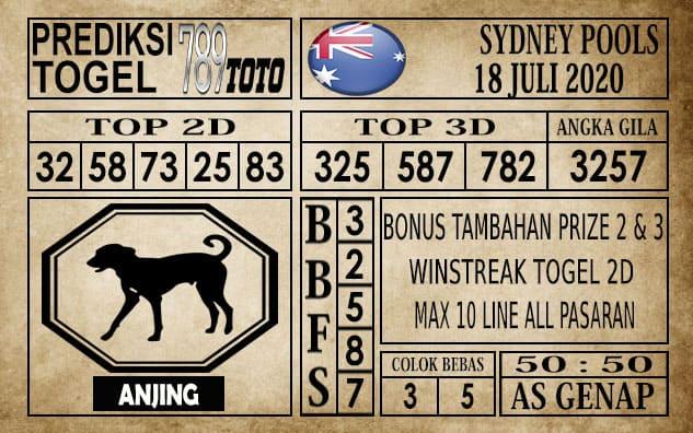 Prediksi Sydney Pools Hari Ini 18 Juli 2020