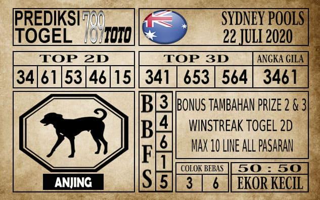 Prediksi Sydney Pools Hari Ini 22 Juli 2020
