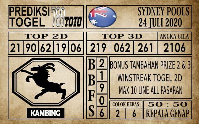 Prediksi Sydney Pools Hari Ini 24 Juli 2020