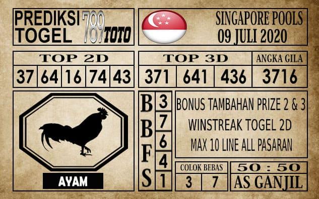 Prediksi Singapore Pools Hari ini 09 Juli 2020