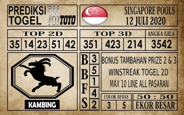 Prediksi Singapore Pools Hari ini 12 Juli 2020