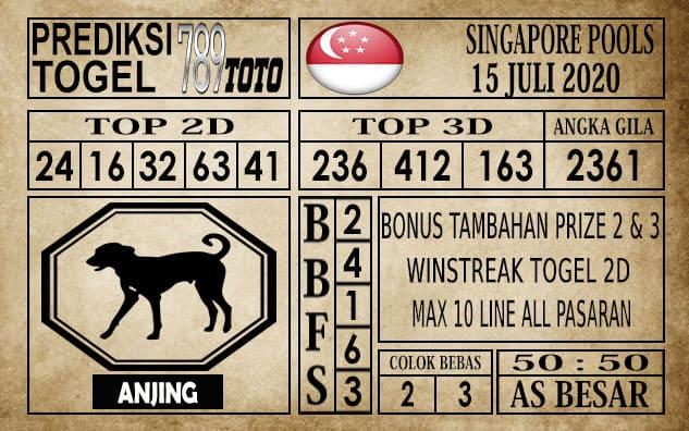 Prediksi Singapore Pools Hari ini 15 Juli 2020