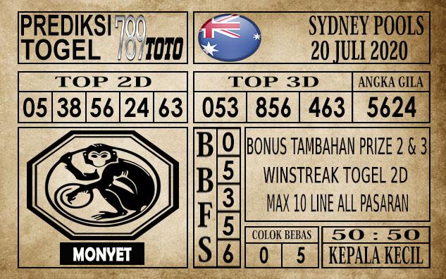 Prediksi Sydney Pools Hari Ini 20 Juli 2020