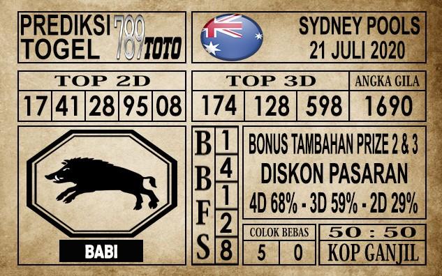 Prediksi Sydney Pools Hari Ini 21 Juli 2020
