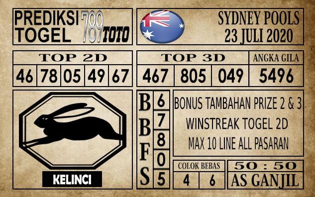 Prediksi Sydney Pools Hari Ini 23 Juli 2020