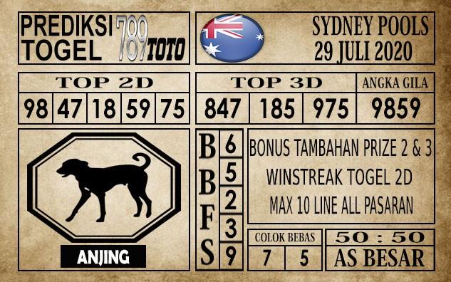 Prediksi Sydney Pools Hari Ini 29 Juli 2020