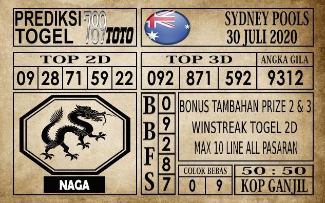Prediksi Sydney Pools Hari Ini 30 Juli 2020