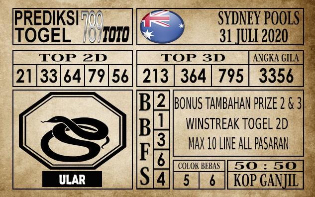 Prediksi Sydney Pools Hari Ini 31 Juli 2020