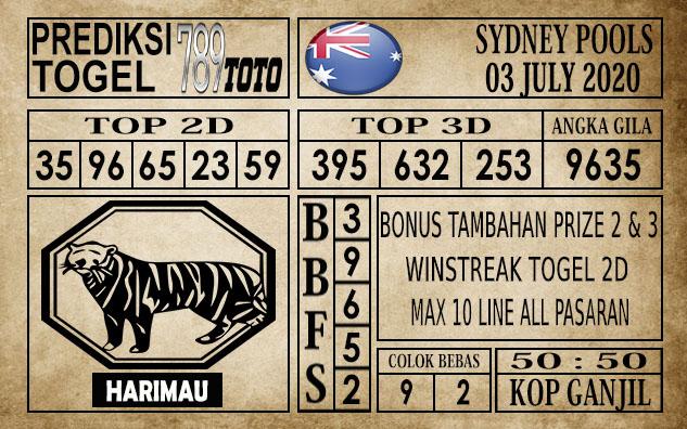 Prediksi Sydney Pools Hari Ini 03 Juli 2020